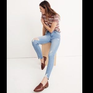 NWT Madewell skinny distressed jeans